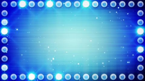 frame of blue lighting bulbs loop Stock Video Footage
