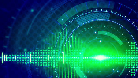 sine waves green blue technology loop background Stock Video Footage