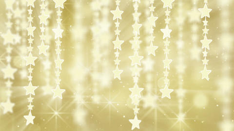 gold shiny hanging stars loop background Animation