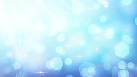 blue blinking bokeh lights loop Stock Video Footage