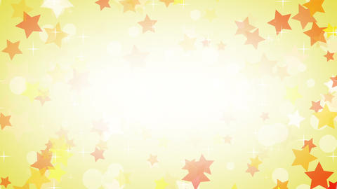 yellow stars frame loop background Stock Video Footage