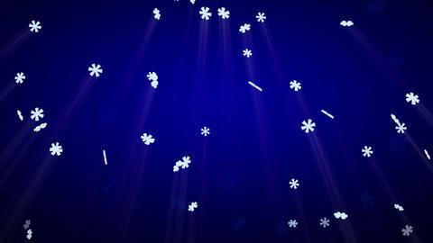 seamless loop snowfall on blue with luma matte Stock Video Footage