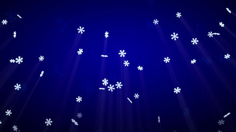 seamless loop snowfall on blue with luma matte Animation