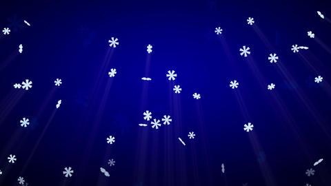 seamless loop snowfall on blue with luma matte Animation