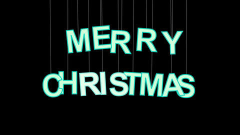 merry christmas celebration with luma matte Stock Video Footage