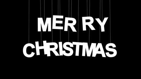 merry christmas celebration with luma matte Stock Video Footage