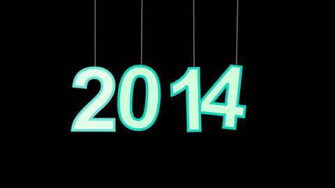 2014 new year celebration with luma matte Animation