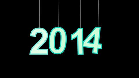 2014 new year celebration with luma matte Animation