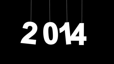2014 new year celebration with luma matte Stock Video Footage