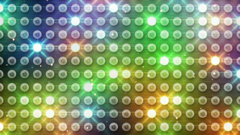 multicolor lighting bulbs loop Stock Video Footage
