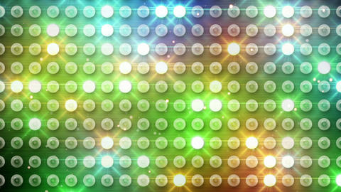 multicolor lighting bulbs loop Animation