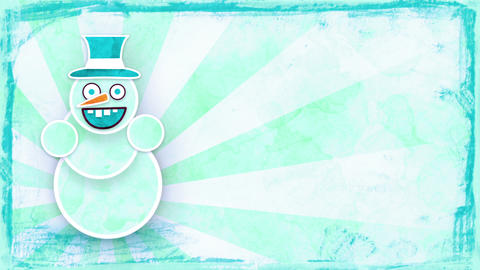 dancing snowman with luma matte loop Stock Video Footage