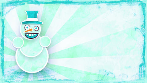 dancing snowman with luma matte loop Animation