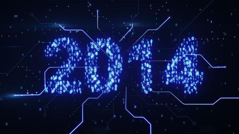 binary 2014 shape loop since 10.00 Stock Video Footage