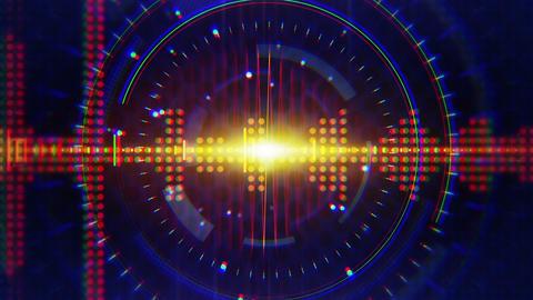 sine waves orange blue technology loop background Stock Video Footage