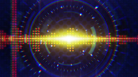 sine waves orange blue technology loop background Animation