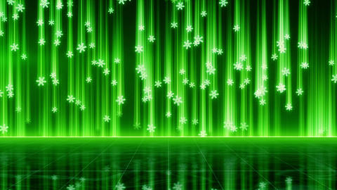 techno green snowfall seamless loop Stock Video Footage