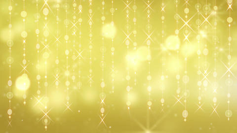 gold shining hanging circles and glares loop Stock Video Footage