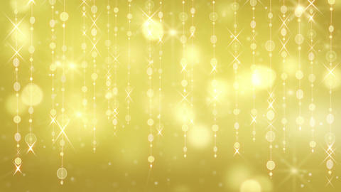 gold shining hanging circles and glares loop Animation