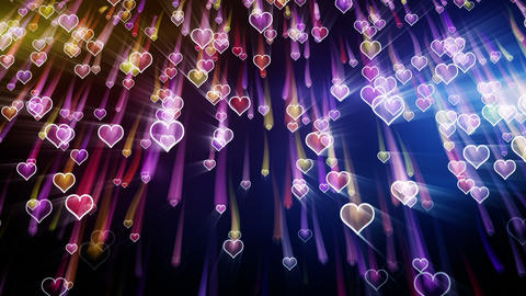 falling hearts romantic loop background Stock Video Footage