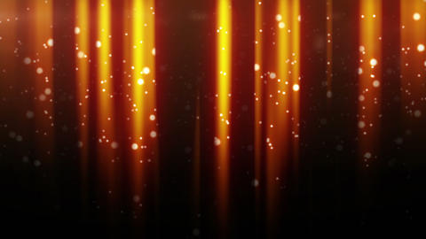 gold particles flying in light beams loop Stock Video Footage