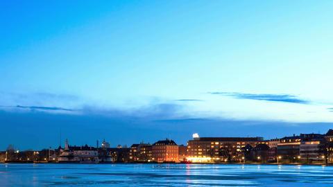 Waterfront views. Copenhagen, Denmark Stock Video Footage
