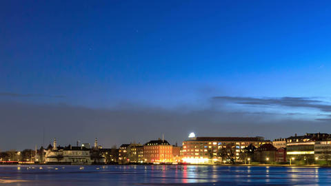 Waterfront views. Copenhagen, Denmark Footage