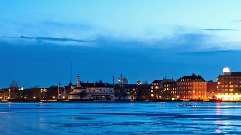 Waterfront views. Copenhagen, Denmark. Time Lapse Footage