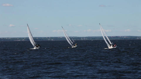 Sailing race Stock Video Footage