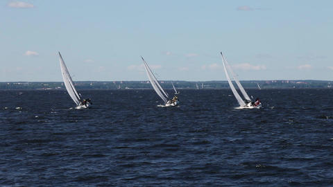 Sailing race Footage