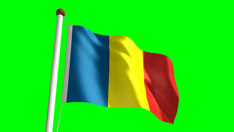 Chad flag Stock Video Footage
