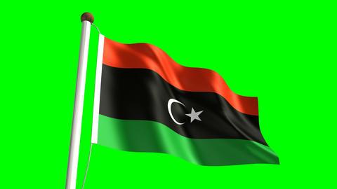 Libya flag Stock Video Footage