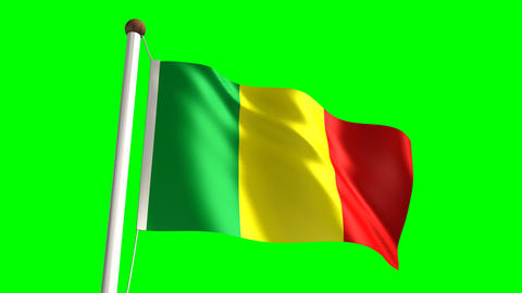 Mali flag Stock Video Footage