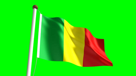 Mali flag Animation