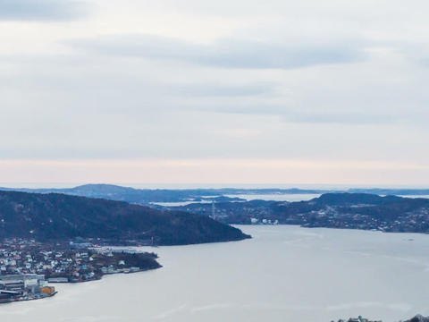 Sunset over the fjords. Bergen, Norway. TimeLapse Stock Video Footage
