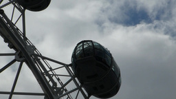 Closed-up view of London Eye passenger capsules, UK, London Stock Video Footage