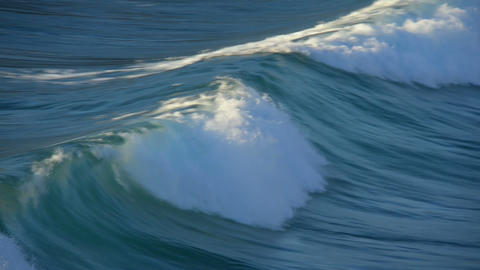 wave rolling in slow motion 11109 Stock Video Footage