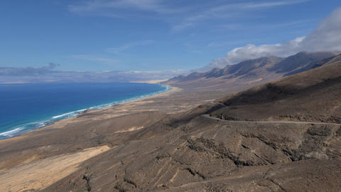 4k UHD fuerteventura time lapse cloud and waves 11 Footage