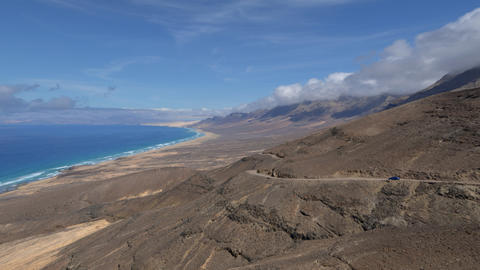 4k UHD fuerteventura time lapse cloud and waves 11 Stock Video Footage