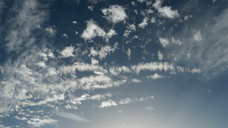Clouds In Blue Sky Timelapse stock footage
