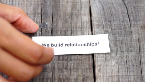 We build relationships Stock Video Footage