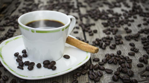 Steaming Hot Cup Of Coffee stock footage