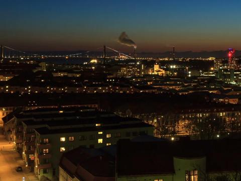 Set against background of the bridge. Gothenburg, Stock Video Footage