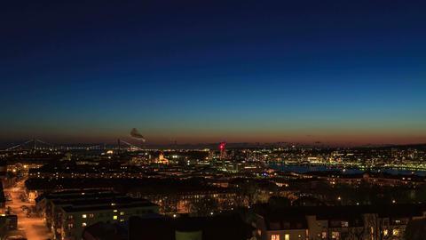 Sunset over the city. Gothenburg, Sweden Footage