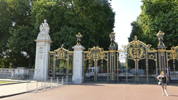 Canada Gate in Green Park, near Buckingham Palace, Footage