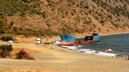 DISMANTLEMENT OF WRECKED SHIP Footage