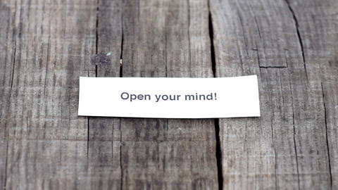 Open your mind Stock Video Footage