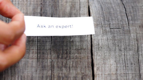 Ask an expert Stock Video Footage