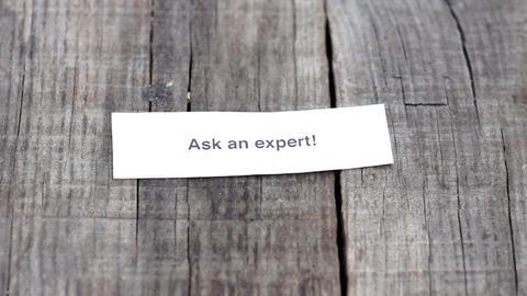 Ask an expert Stock Video Footage