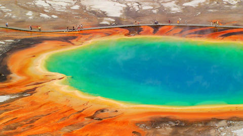 Grand Prismatic Spring Stock Video Footage